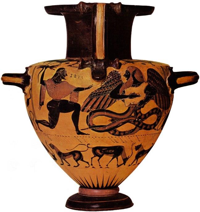 Zeus battling Typhon